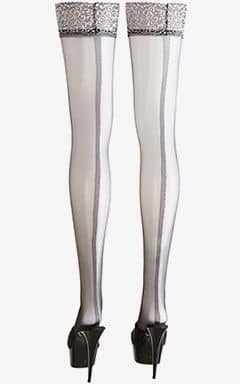 Stayups & strømpebukser Black Clip-On Tights Silver 4