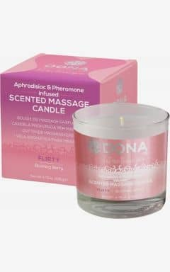 Valentines Day Dona scented massage candle  - flirty