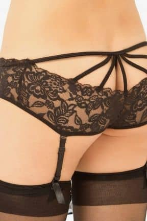 Bundløse Trusser & G-string Spider-back Garter Black