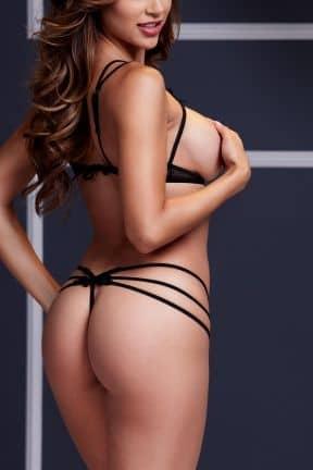 Sæt Strappy Open Bra & Panty Set O/S