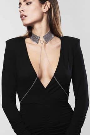 Kropssmykker Desir Metallique Collar Silver