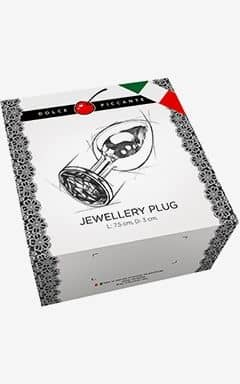 Analplug & Buttplug Jewllery S Gold/Diamond 3 cm