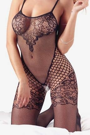 Catsuits / Bodystocking Catsuit with lace on chest S-L