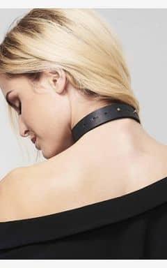BDSM Bijoux Indiscrets Maze Tassel Chocker Black