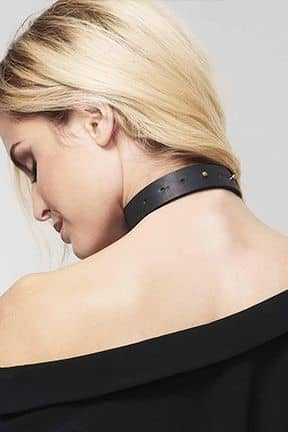 Kropssmykker Bijoux Indiscrets Maze Tassel Chocker Black