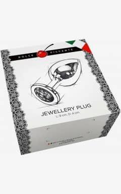 Anal Jewllery L Gold/Purple 4 cm