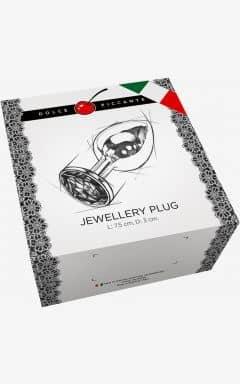 Analplug & Buttplug Jewellery S Silver/Blue 3 cm
