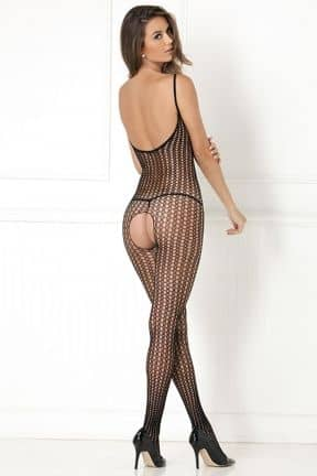 Catsuits / Bodystocking Quarter Crochet Net Bodystocking
