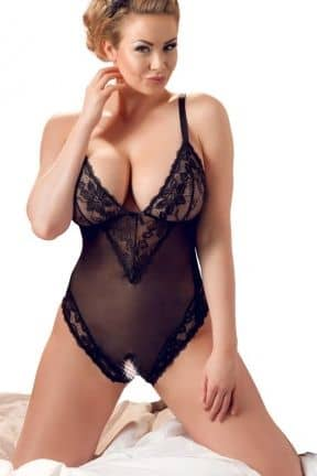 Catsuits / Bodystocking Plus Size Crothchless Body 3XL