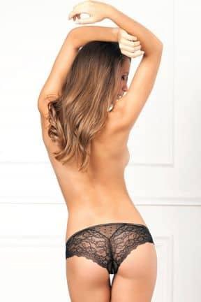 Crotchless Lace & Dots Panty