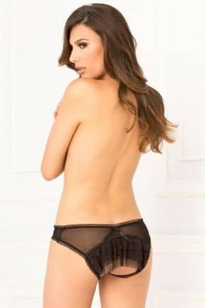 Sexet undertøj Crotchless Mesh Layer Panty S/M
