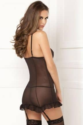 Sexy Chemise Rouched Up Right Chemise Set S/M