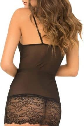 Lingeri 2Pc Lace Up Front Chemise and GS S/M