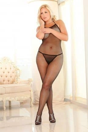 Catsuits / Bodystocking Halter Fishnet Bodystocking