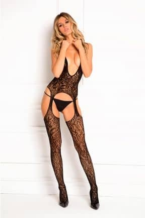 Lace Seduction Bodystocking OS