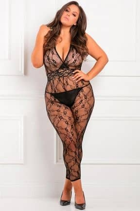 Plus Size Lacy Movie Bodystocking X OS