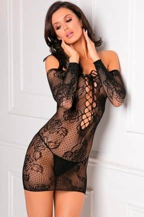 Sexet lingeri - Sæt Tie Breaker Long Sleeve Dress Black OS