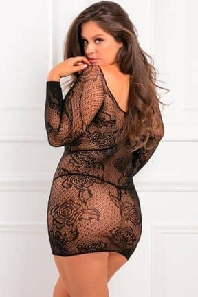Lingeri Tie Breaker Long Sleeve Dress Black X OS