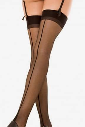 Lingeri Sheer Thigh Hi W Backseam OS