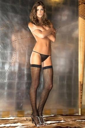 Quarter Crochet Net Thigh High OS