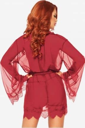 Sexet lingeri - Sæt Sheer Robe with Flared Sleeves
