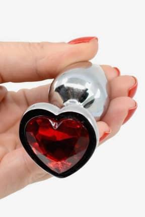 Buttplug og analt sexlegetøj Love Steel Plug with Crystal