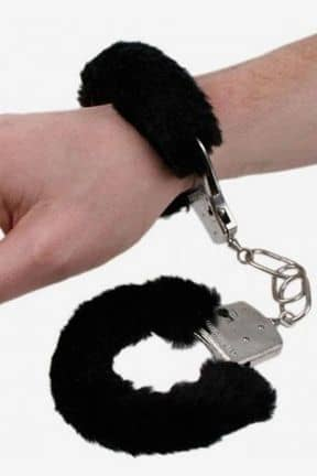 Håndjern & Opbinding Metal Handcuffs with Black Plush
