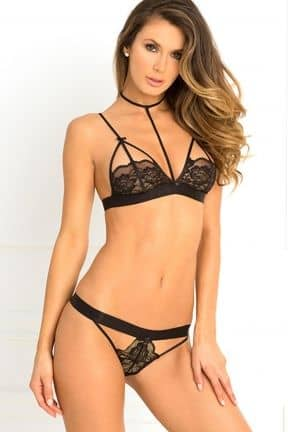 Sexet undertøj Harness Bra & Panty Set