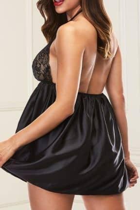 Sexet lingeri - Sæt Baci - Sexy Lace Babydoll Set Black