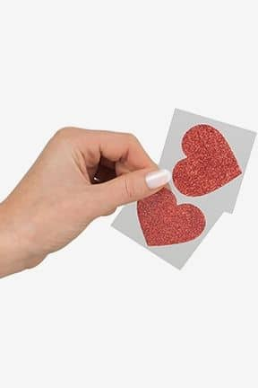 Kropssmykker Nipple Sticker Heart Red