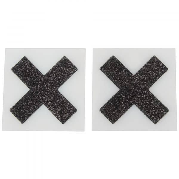 Nipple Sticker Cross Black