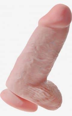 Klassisk dildo King Cock Chubby Flesh