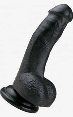 Dildo med sugekop Realistic Dildo Black 15 cm