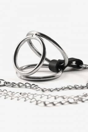 Kropssmykker Nipple clamps w. cock ring