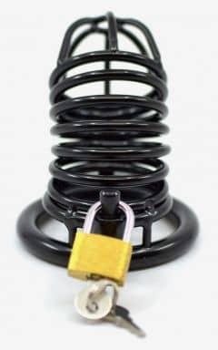 Kyskhedsbælter Cock Cage Steel Black Stripe
