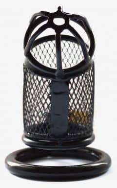 Kyskhedsbælter Cock Cage Steel Black Net