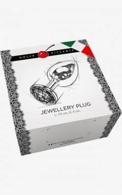 Buttplug og analt sexlegetøj Jewellery S Gold/Purple 3 cm