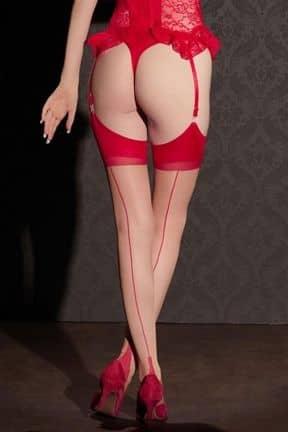 Lingeri Stockings Nude w. Red Seam