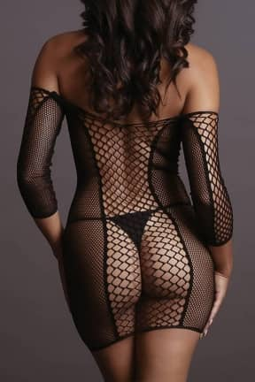 Nyheder Le Désir - Net Sleeved Mini Dress OS