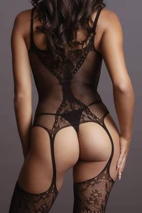 Sexiga Underkläder Le Désir - Fishnet & Lace Bodystocking OS