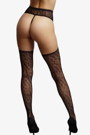 Lingeri Le Désir - Suspender Leopard Pantyhose