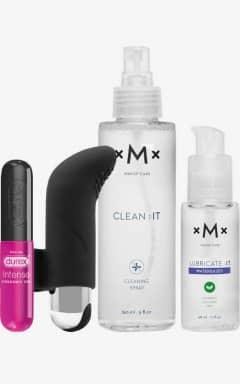 Klaviyo-Clean-it Finger vibratorwith lube clean and orgasmic gel