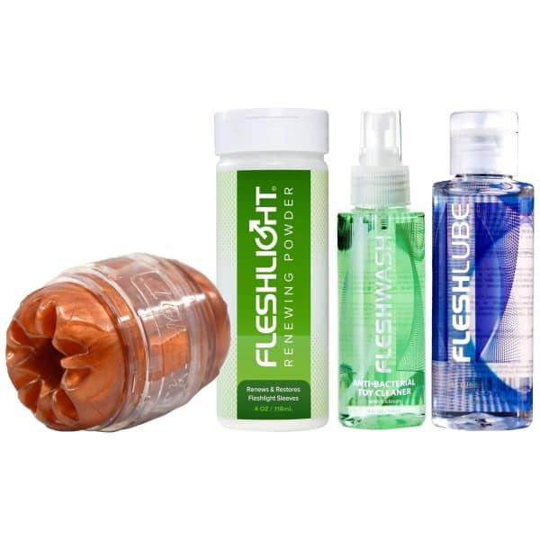 Fleshlight quickshot + lube + clean