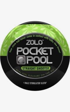 Onanifavoritter til ham Zolo - Pocket Pool Straight Shooter Black/Green