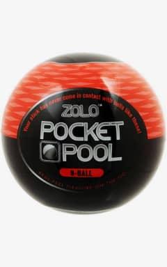 Onanifavoritter til ham Zolo Pocket Pool 8 Ball Black/Red