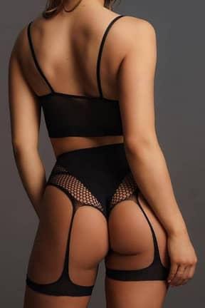 Nyheder Le Désir 2PC Bra set with garters Black