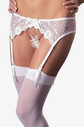 Stayups & strømpebukser Stockingset M/L, Vit spets, Mandy Mystery line