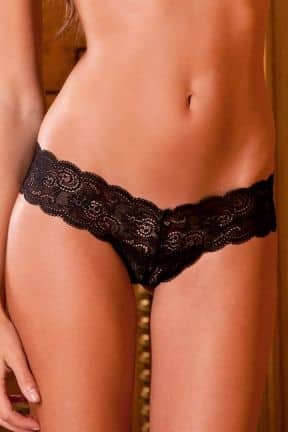 Sexet undertøj Lace Thong with ribbon