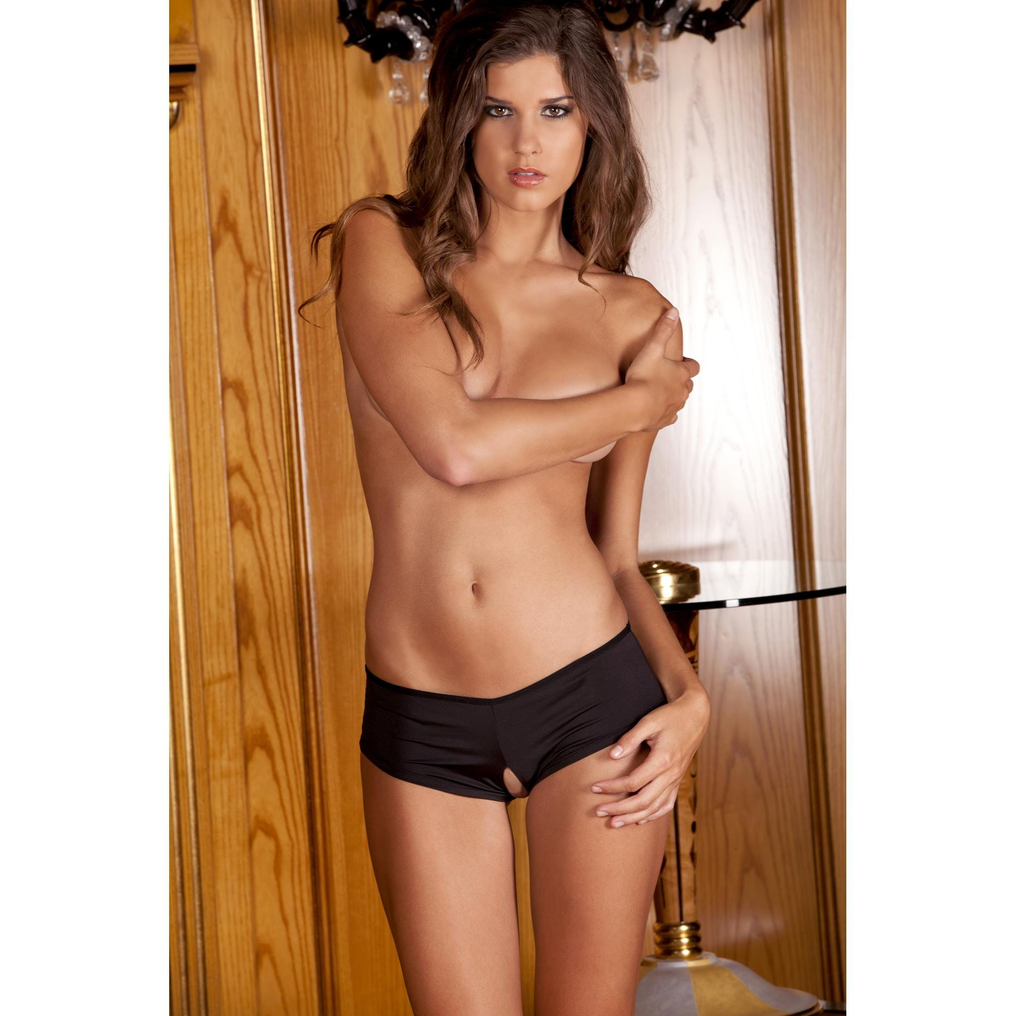 Image of   Crotchless Ribbon-Back - Small/Medium