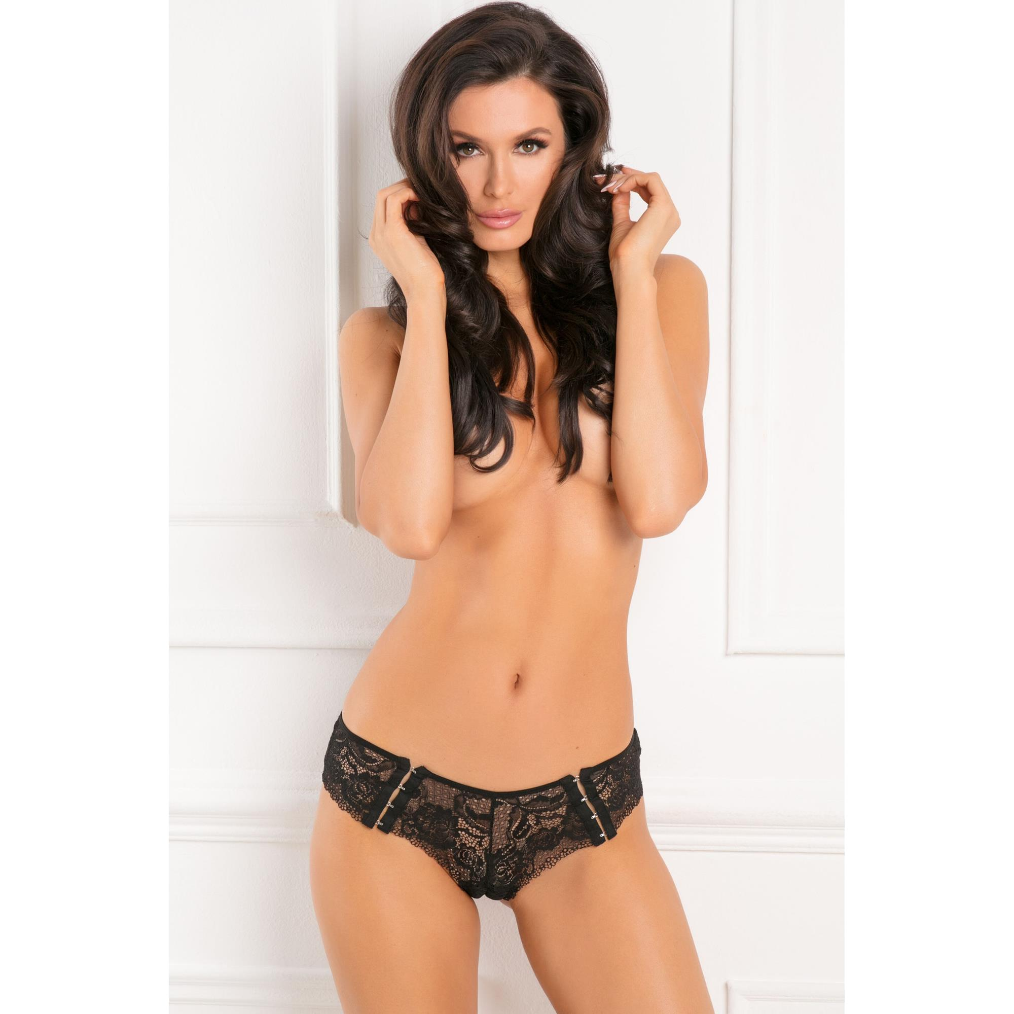 Image of   Hot Hook Ups Crotchless Panty S/M